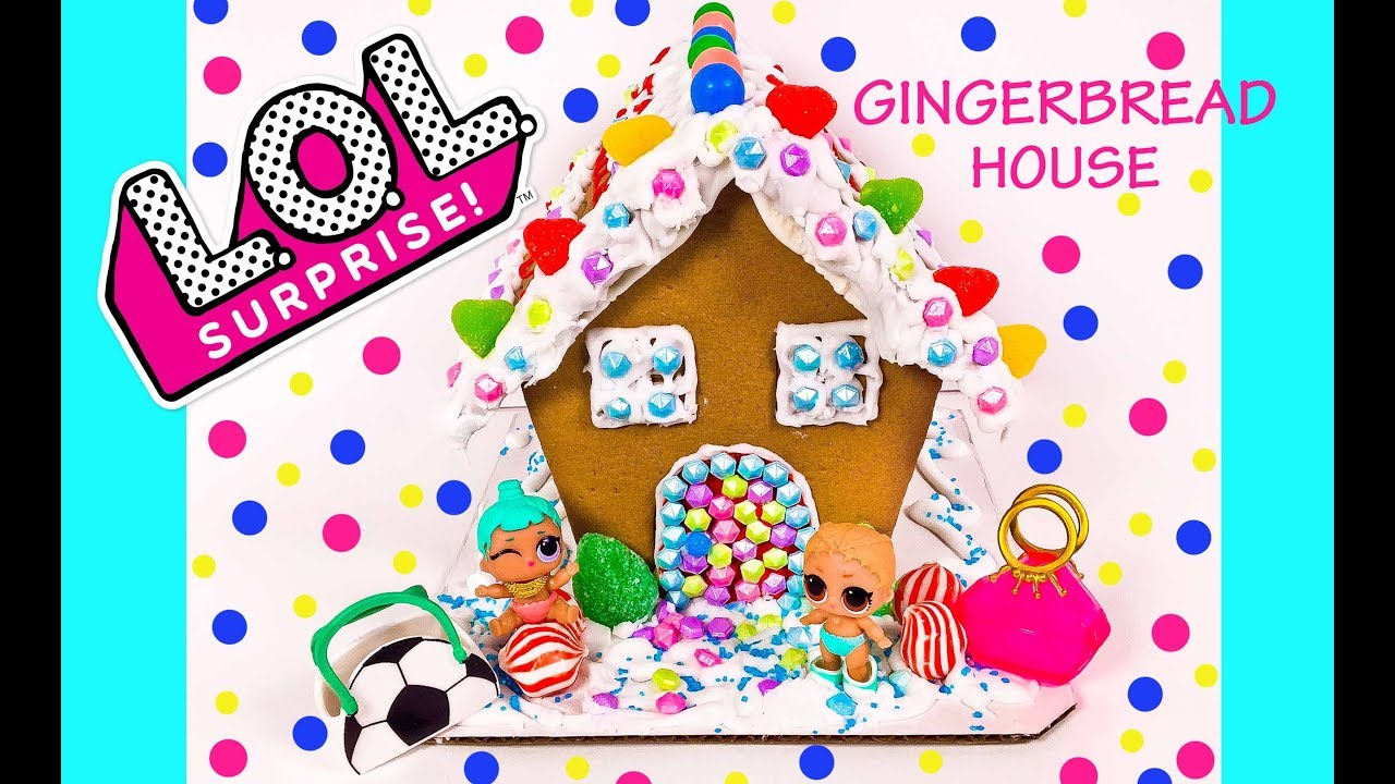 LOL Surprise Dolls Gingerbread House DIY Holiday