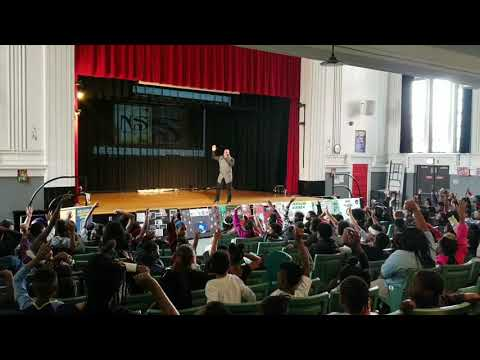 KING OF POETRY BLAQ ICE LIVE @ OGLESBY SCHOOL FOR BLACK HISTORY MONTH