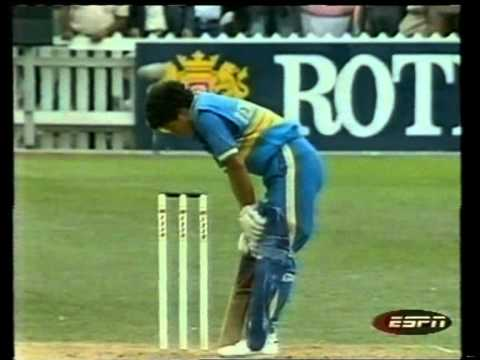 Sachin Tendulkar 1st runs in One Day Cricket -- 36 vs NZ 4th ODI 1990
