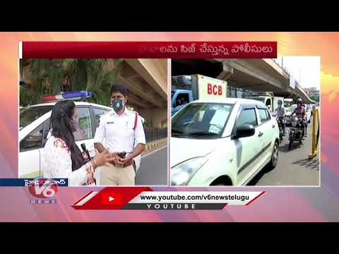 Telangana Lockdown : Traffic Increase In Hyderabad | Lockdown Relaxations | V6 Telugu News