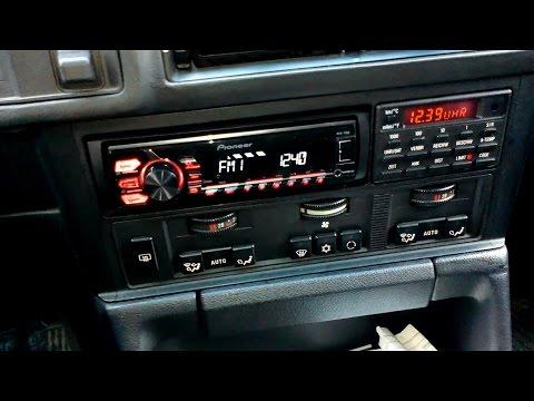 БМВ Е34 Установка магнитолы, ремонт BMW E34