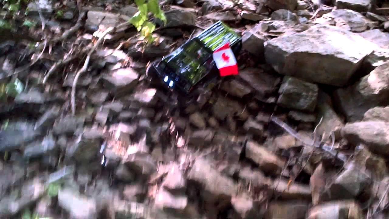 backyard rc tracks 1992 jeep cherokee rock crawling part 5