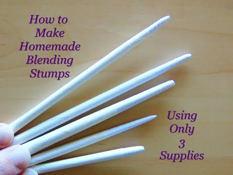 How to make handmade paper blending stumps using only 3 supplies