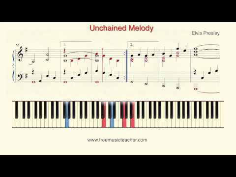 "How To Play Piano: Elvis Presley ""Unchained Melody"" Piano Tutorial by Ramin Yousefi"