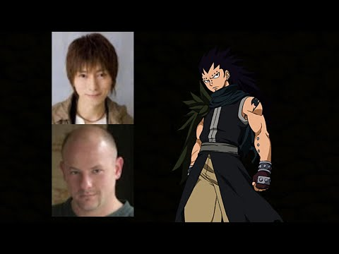 Anime Voice Comparison Gajeel Redfox Fairy Tail