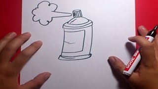 Como dibujar un spray paso a paso | How to draw a spray