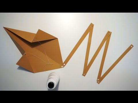 HOW TO MAKE A LEBANESE KITE OUT OF A SHEET OF PAPER ? (BY CRAZY HACKER)
