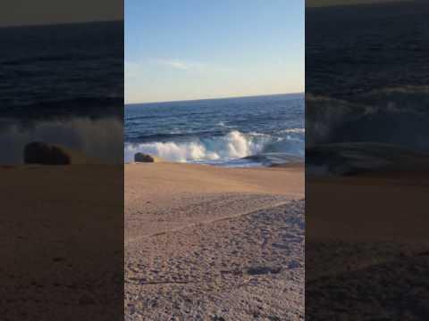 Peggy's Cove, Nova Scotia sunset waves