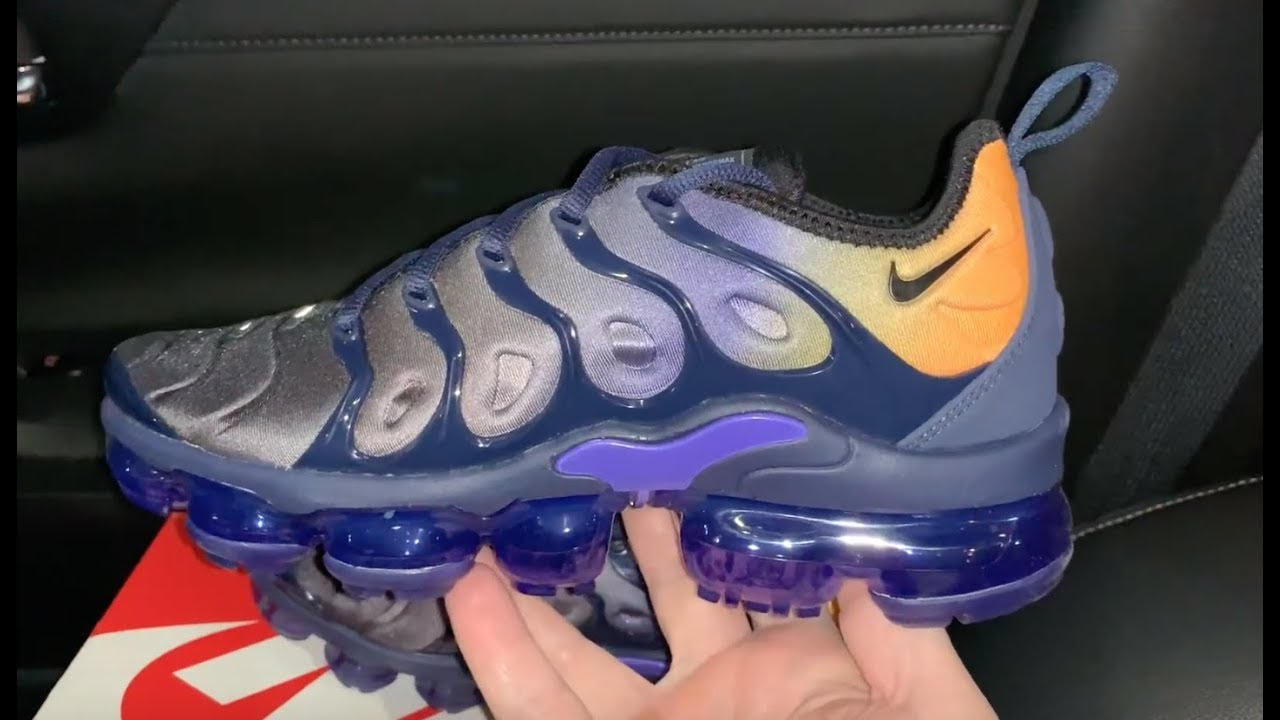 low priced 871a9 83ad6 Nike Air VaporMax Plus Blue Orange women shoes