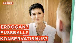 Sahra Wagenknecht über Erdogan, Fußball, Konservatismus...