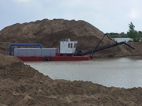 Земснаряд AVSSA-1600  в Астане . Добыча песка на карьере.+77018480080.