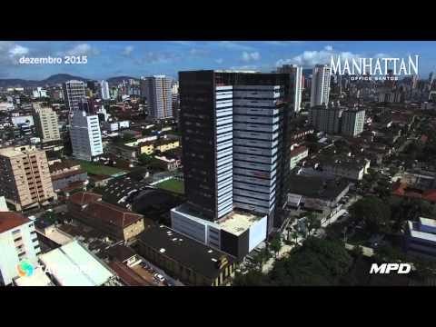 MANHATTAN OFFICE SANTOS   Andamento de obra 12/2015