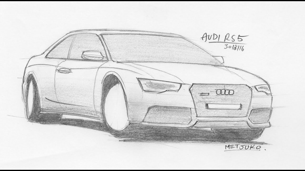 Tutorial - Drawing Cars in your spare time - Audi RS5 - YouTube