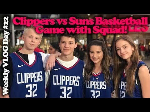 Clipper Vs. Suns Basketball game with Squad! Team Nike! Weekly Vlog Day #22