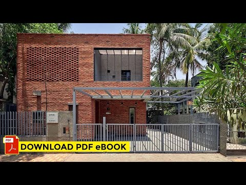 3,600 Sq Ft The Brick Abode In Pune By Alok Kothari Architects