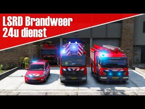 GTA 5 LSRD brandweer - Een drukke 24 uurs dienst! Grote brand!