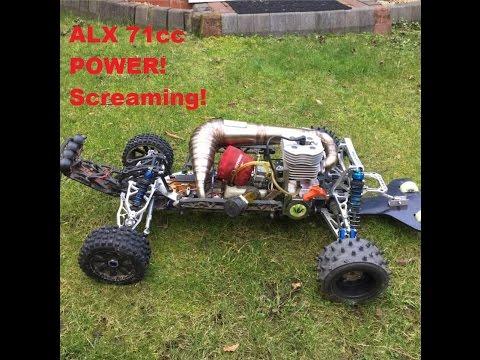 HPI Baja 5T 71cc ALX - Custom RPM Pipe 25mm Carb 28/46 - BIG Bore POWER!!