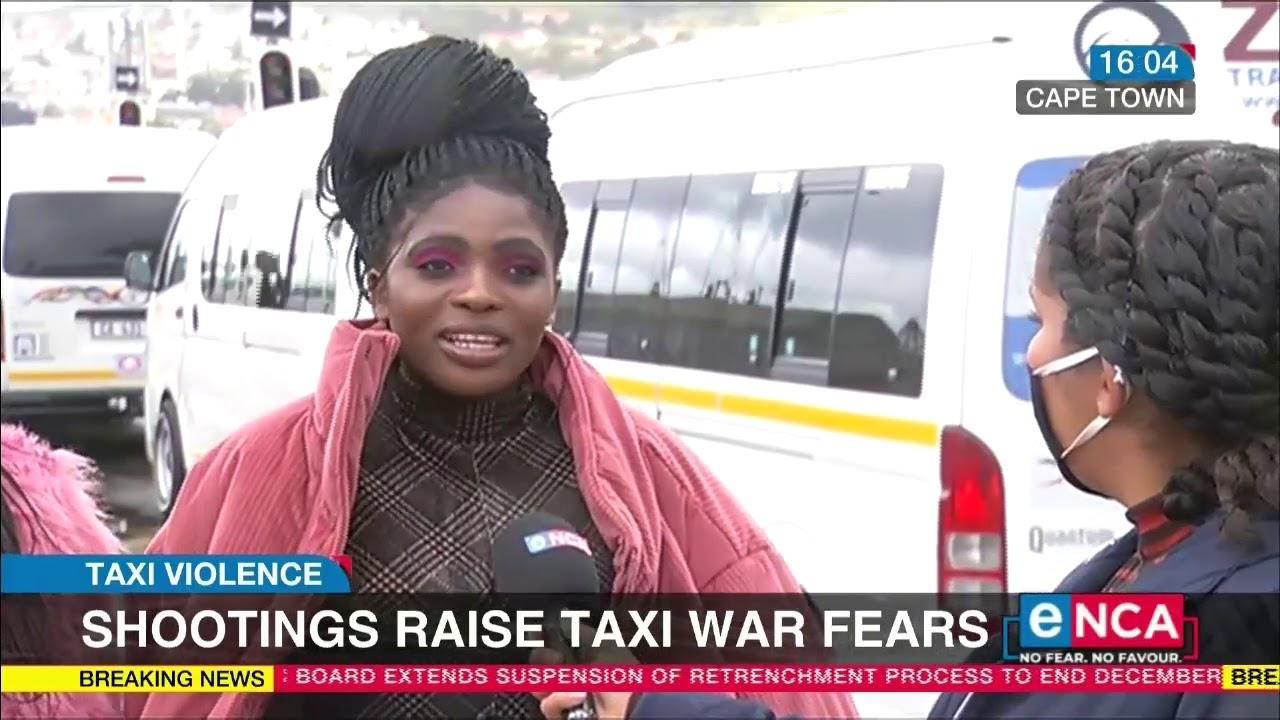 Shootings raise taxi war fears   Taxi violence - eNCA