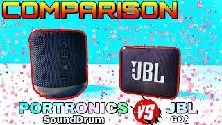 Download Portronics Sound Drum (POR 871) vs JBL GO 2