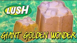 LUSH - GIANT GOLDEN WONDER Bath Bomb DEMO & REVIEW Underwater Christmas 2017