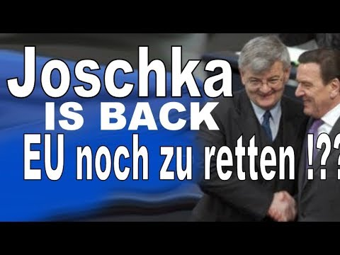 Joschka Fischer ist zurück : EU noch zu retten ? Claudia Roth & Peer Steinbrück wissen auch was