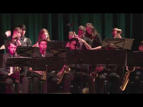 Ranney School Class of 2016 Corey Natofsky with the Upper School Jazz Band