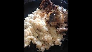 рис с яйцом в мультиварке и жареная скумбрия
