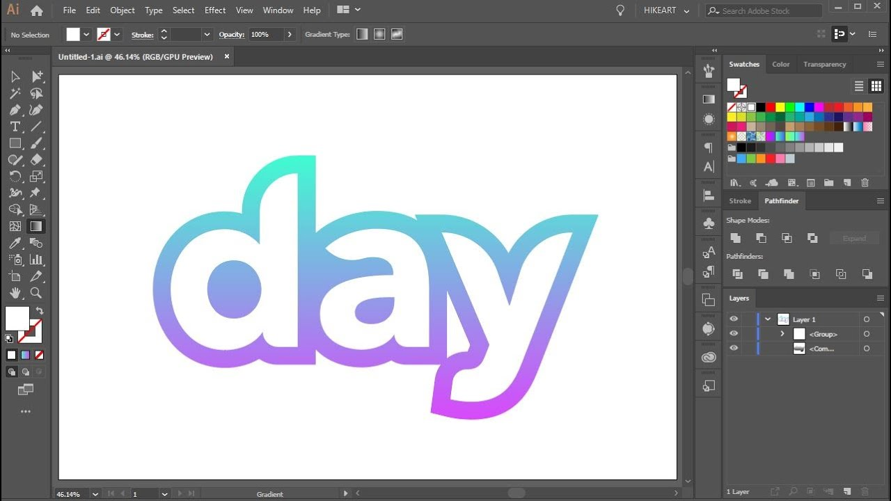 how to outline text in adobe illustrator youtube flasche vektor schiff