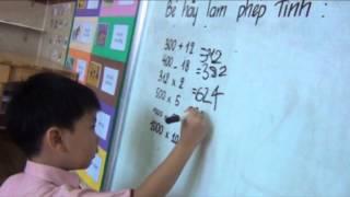 Bé làm toán - Phước Hiền 4 tuổi