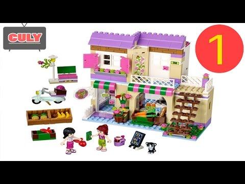 Lego Friends Siêu thị mua sắm phần 1/3 - bóc đồ chơi trẻ em Heartlake food market toy for kid