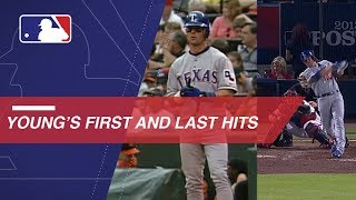 A look at Michael Young's first and last MLB hits