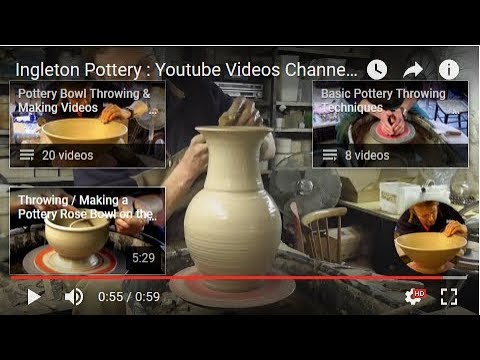 Ingleton Pottery : Youtube Pottery Making Videos Channel Trailer