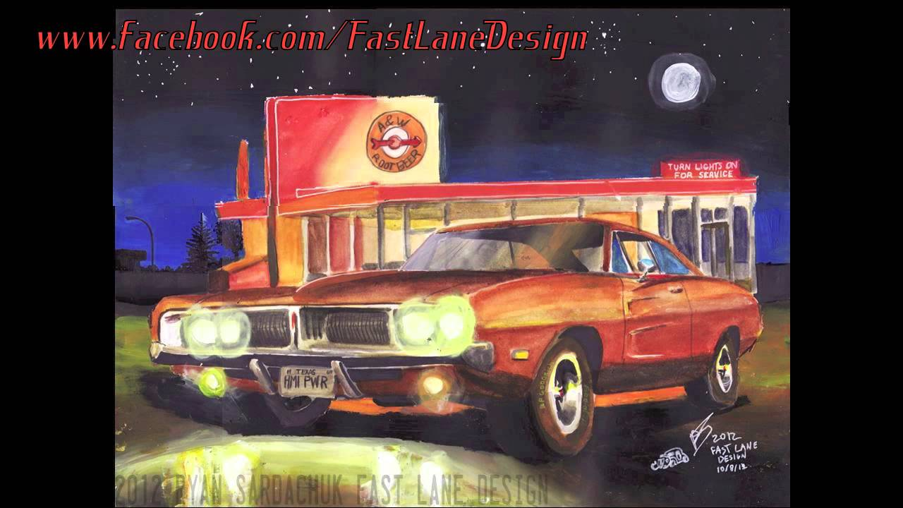 Car Paintings And Drawings Ryan Sardachuk Fast Lane Design Youtube