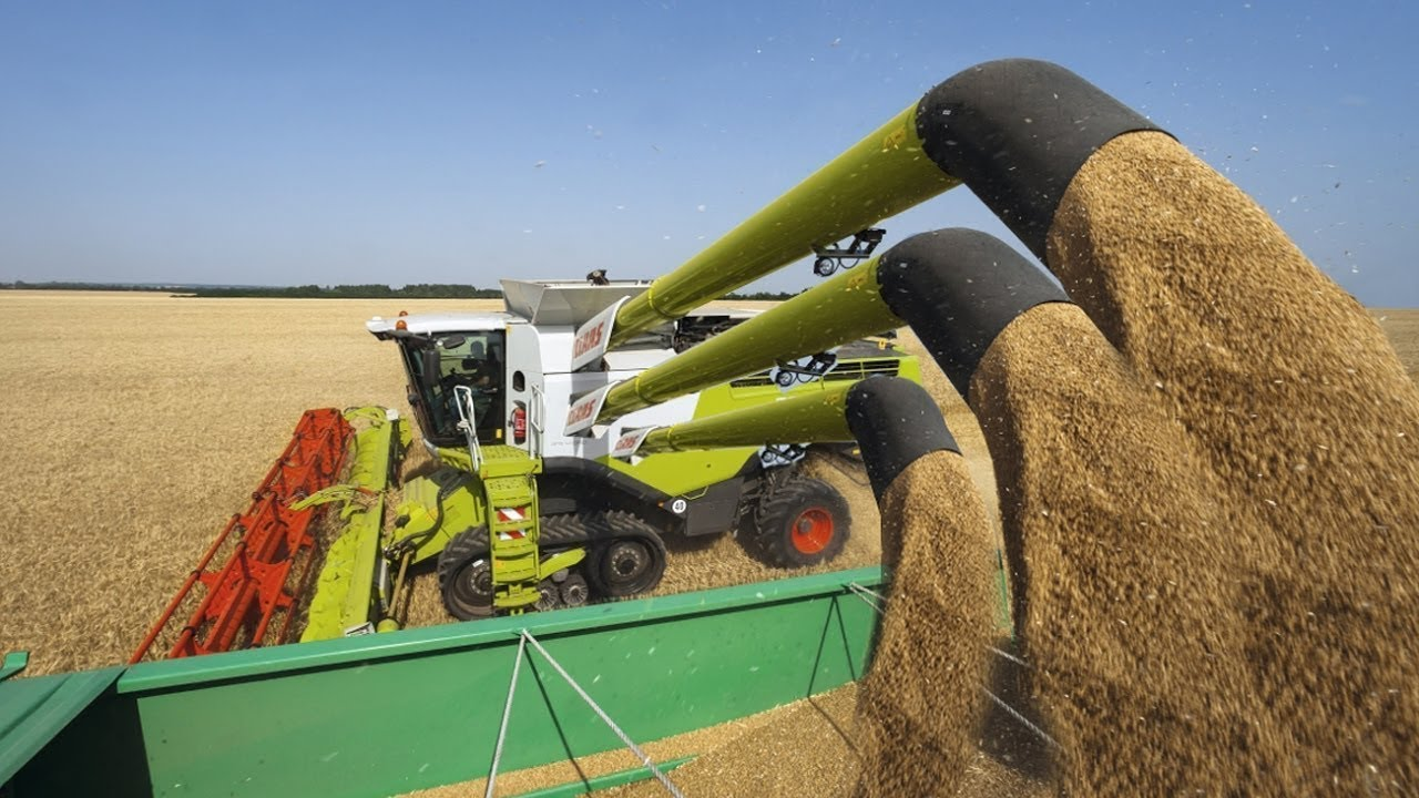Amazing agriculture technology modern harvest machine ...