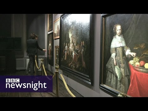 The sleepy Dutch town whose stolen paintings have resurfaced in war-torn Ukraine - Newsnight