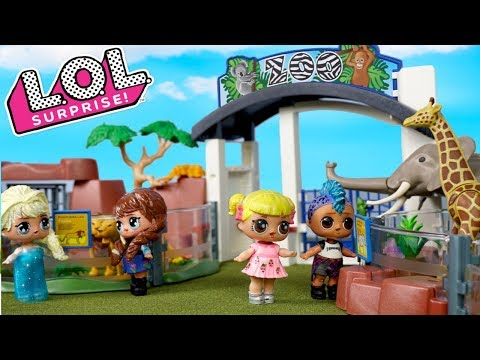 Barbie Doll School Field Trip With LOL Frozen Family & Baby Goldie