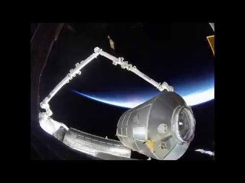 Leonardo module moved on ISS, by ground control (150x speed)