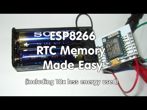 #60 How to use the RTC Memory in ESP8266  and reduce power consumption by factor of 10 (Tutorial)