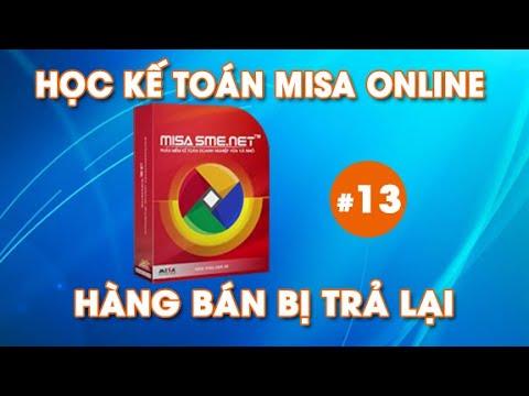Tự học phần mềm kế toán MISA | Hạch toán hàng bán bị trả lại trên MISA | #13