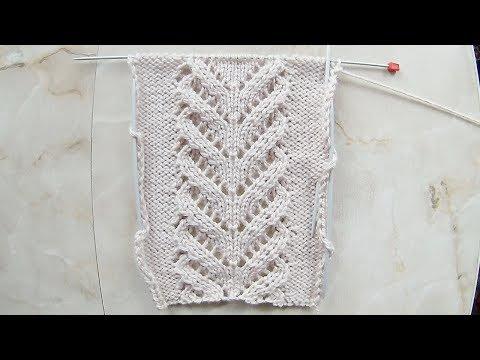 Схема вязания ажурные косы спицами