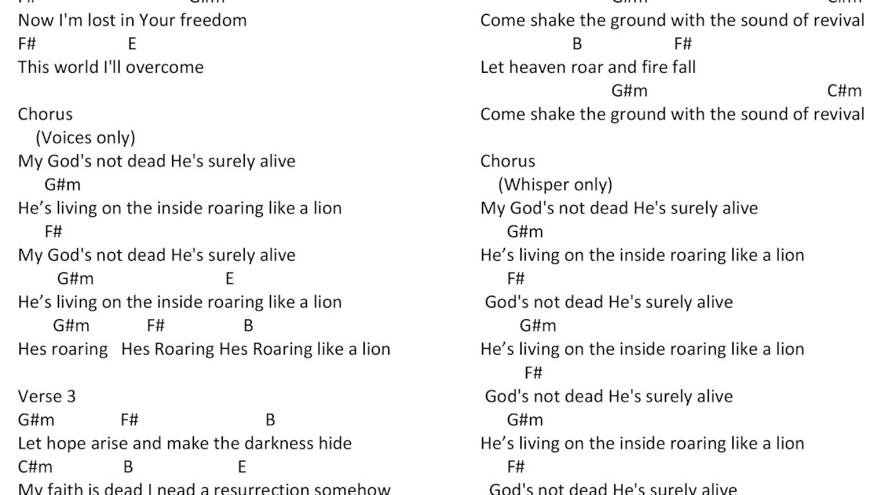 Gods Not Dead Newsboys Chords Youtube