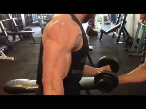 MassiveJoes.com - WNBF Pro Hayzer Cayli Bicep Curls - 1 Week Out from 2012 World Championships