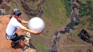 One of How Ridiculous's most viewed videos: Exercise Ball Magnus Effect from 200m!!