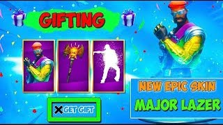 NEW MAJOR LAZER SKIN GIFTING! FORTNITE ITEM SHOP COUNTDOWN! GIFTING MAJOR LAZER SKIN!