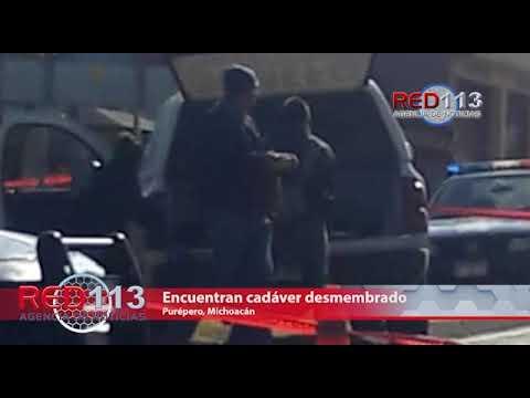 VIDEO Encuentran cadáver desmembrado en Purépero