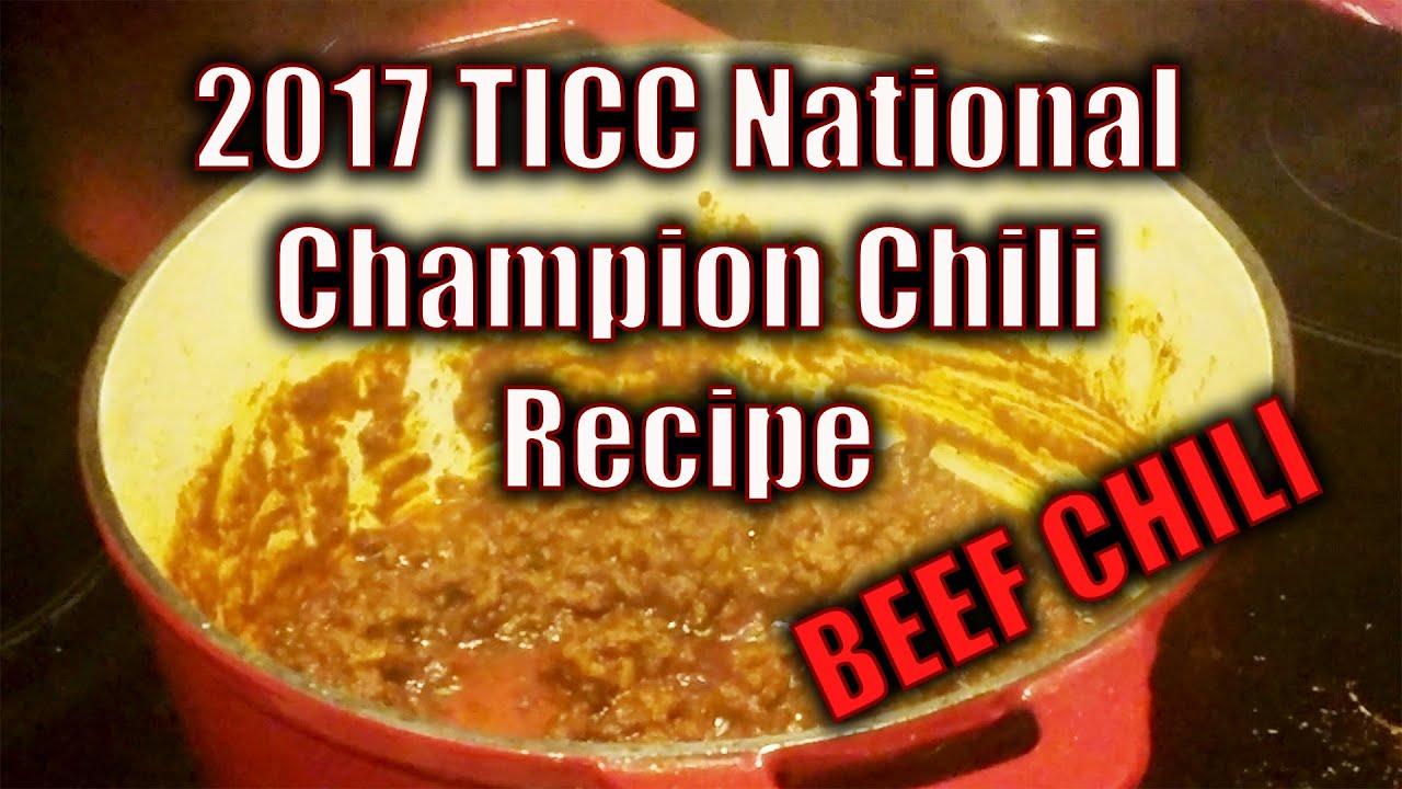 2017 Champion Chili Recipe Texas Chili Lb Eats Ep 3 Youtube