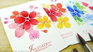 Watercolor Floral Invitations / DIY Handmade Cards - Level 2