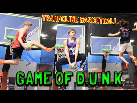 SKY ZONE GAME OF D.U.N.K!! TRAMPOLINE BASKETBALL!!
