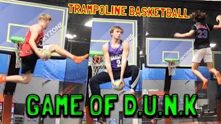 SKY ZONE GAME OF D.U.N.K!! TRAMPOLINE BASKETBALL!!
