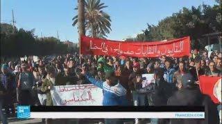 إضراب عام في بلدة مكناس التونسية